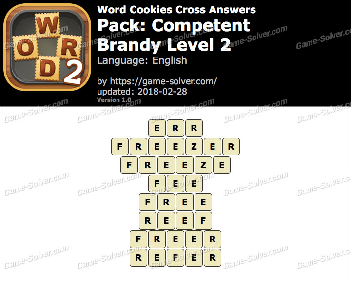 Word Cookies Cross Competent-Brandy Level 2 Answers