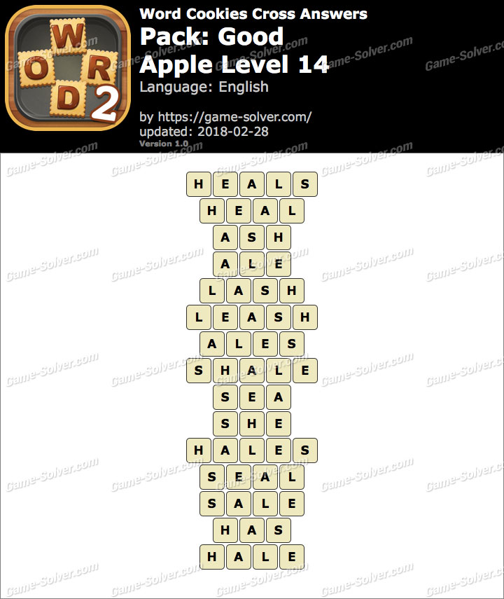 Word Cookies Cross Good-Apple Level 14 Answers