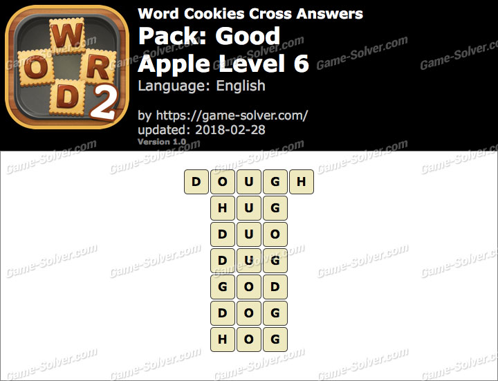 Word Cookies Cross Good-Apple Level 6 Answers