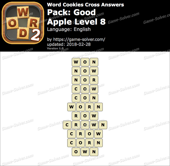 Word Cookies Cross Good-Apple Level 8 Answers