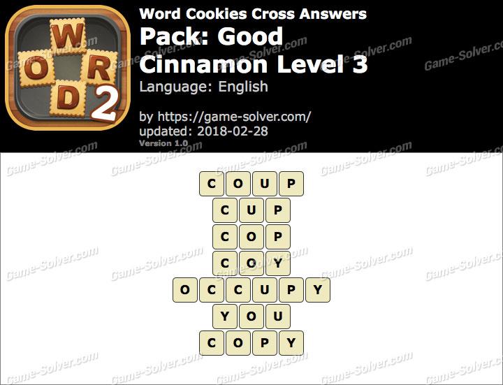 Word Cookies Cross Good-Cinnamon Level 3 Answers
