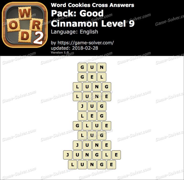 Word Cookies Cross Good-Cinnamon Level 9 Answers