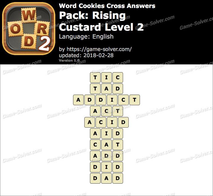 Word Cookies Cross Rising-Custard Level 2 Answers