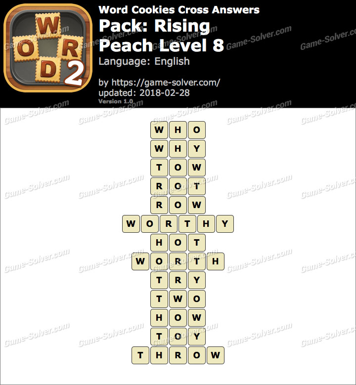 Word Cookies Cross Rising-Peach Level 8 Answers