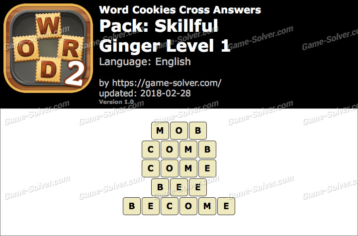 Word Cookies Cross Skillful-Ginger Level 1 Answers