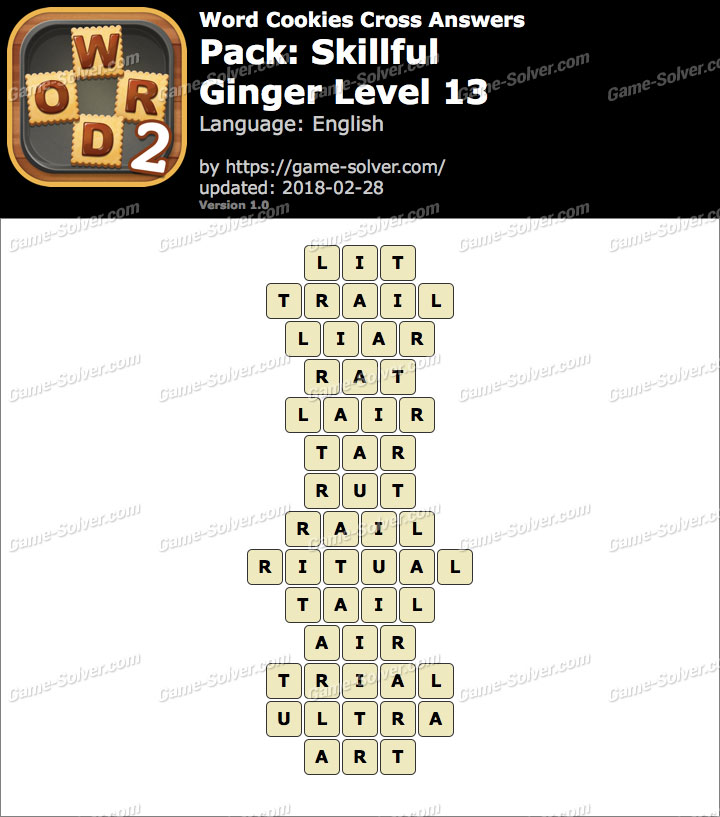 Word Cookies Cross Skillful-Ginger Level 13 Answers
