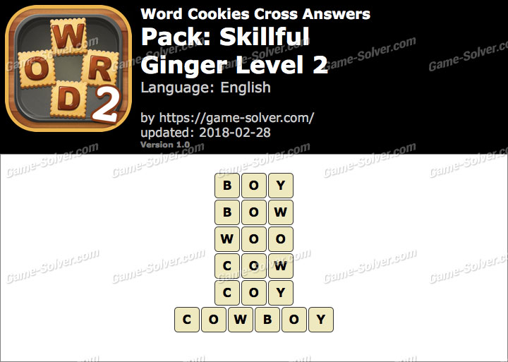 Word Cookies Cross Skillful-Ginger Level 2 Answers
