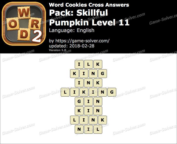 Word Cookies Cross Skillful-Pumpkin Level 11 Answers