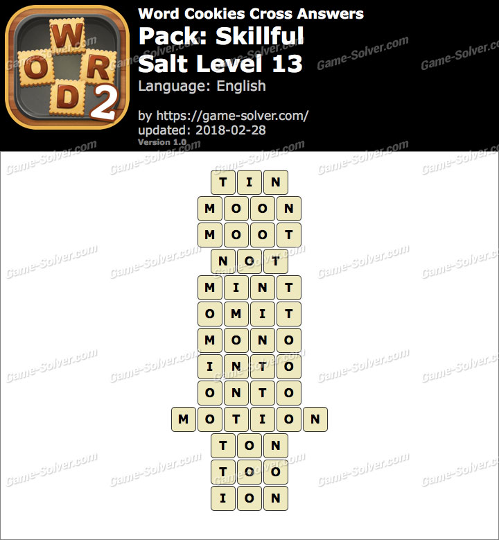 Word Cookies Cross Skillful-Salt Level 13 Answers