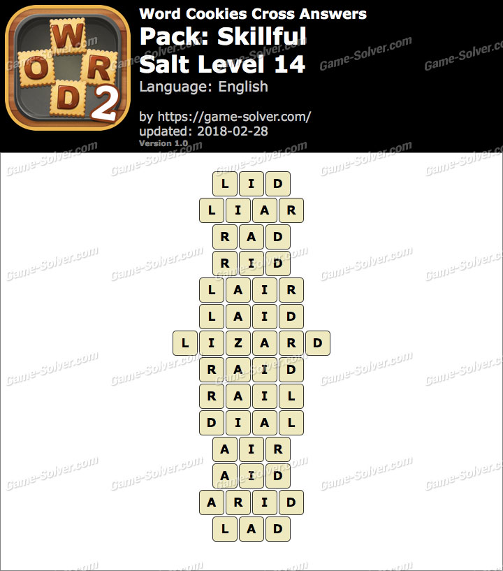 Word Cookies Cross Skillful-Salt Level 14 Answers