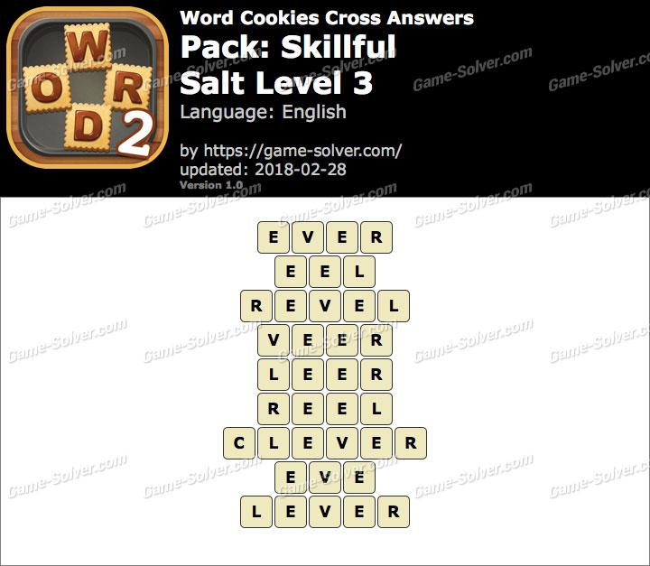 Word Cookies Cross Skillful-Salt Level 3 Answers