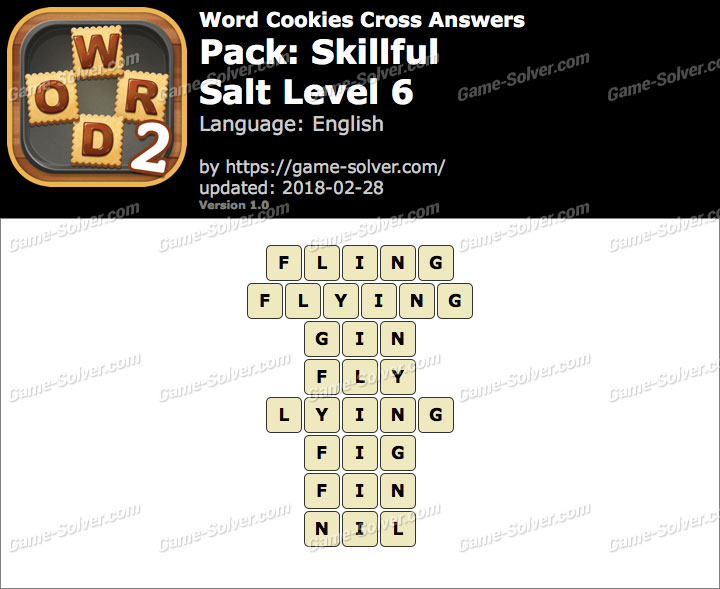 Word Cookies Cross Skillful-Salt Level 6 Answers