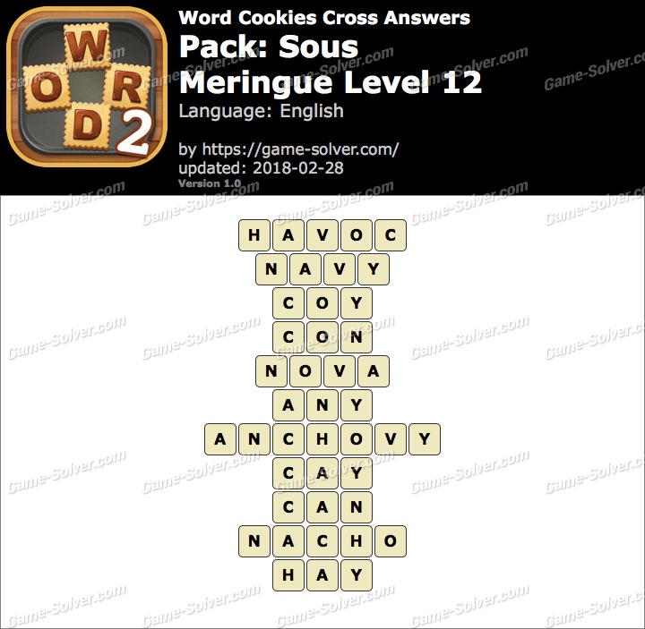 Word Cookies Cross Sous-Meringue Level 12 Answers