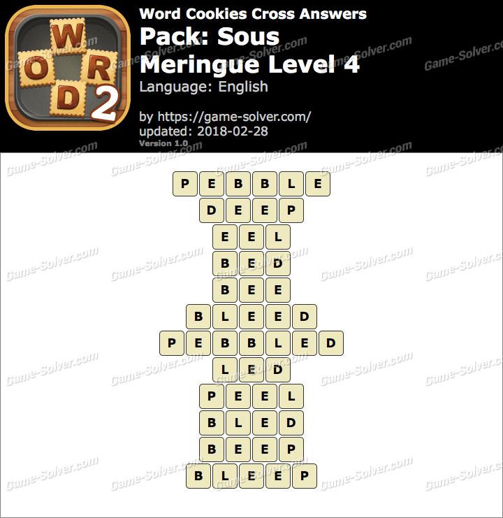 Word Cookies Cross Sous-Meringue Level 4 Answers