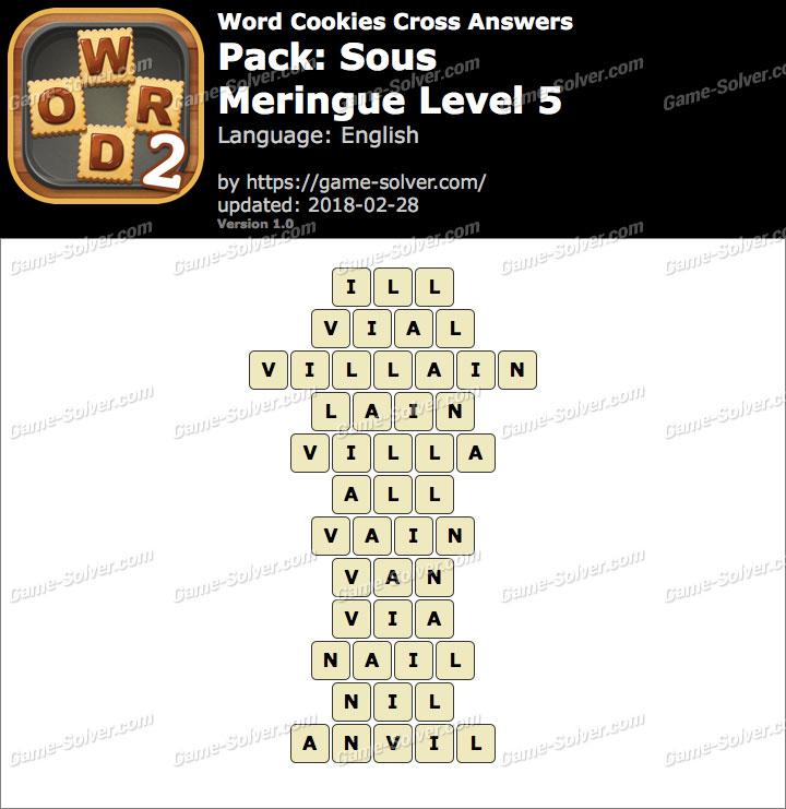 Word Cookies Cross Sous-Meringue Level 5 Answers