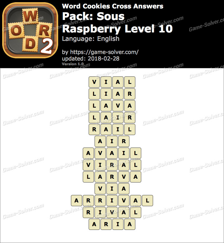 Word Cookies Cross Sous-Raspberry Level 10 Answers