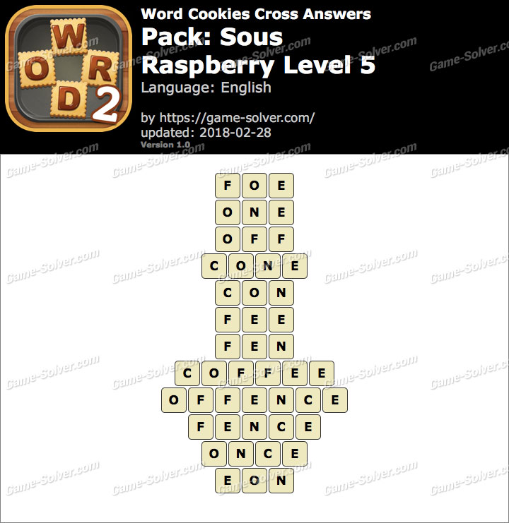 Word Cookies Cross Sous-Raspberry Level 5 Answers
