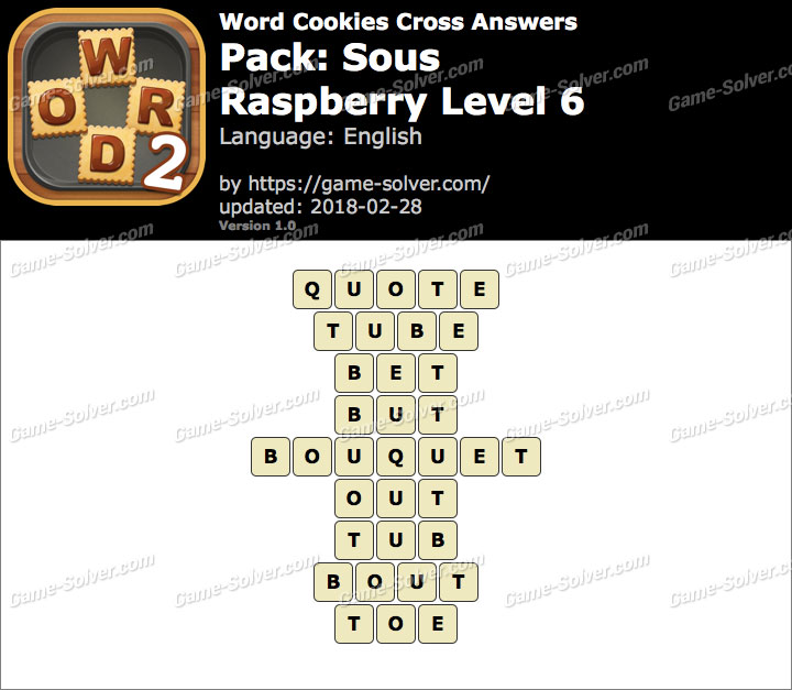 Word Cookies Cross Sous-Raspberry Level 6 Answers