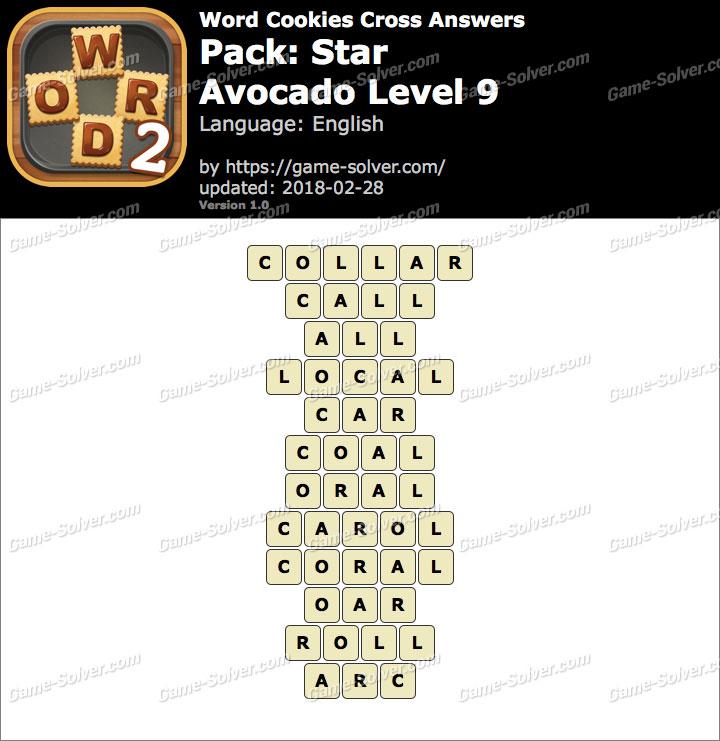 Word Cookies Cross Star-Avocado Level 9 Answers