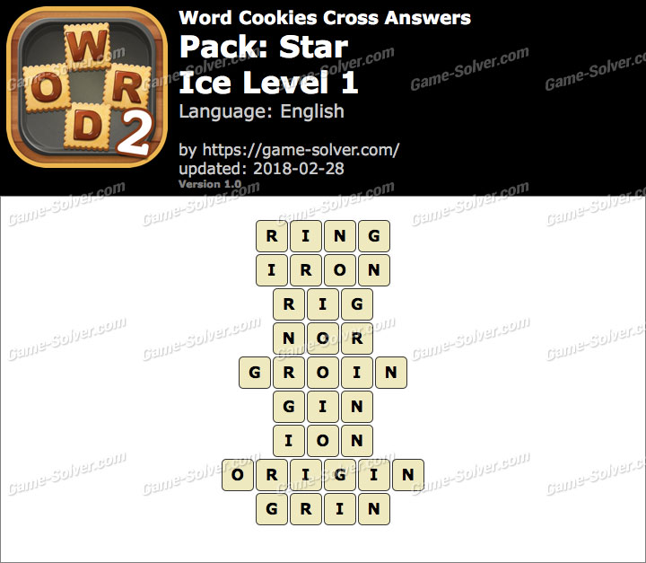 Word Cookies Cross Star-Ice Level 1 Answers