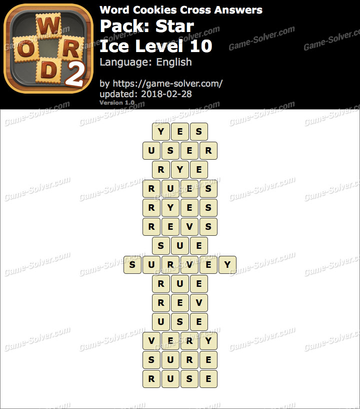 Word Cookies Cross Star-Ice Level 10 Answers