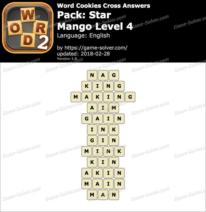 Word Cookies Cross Star-Mango Level 4 Answers
