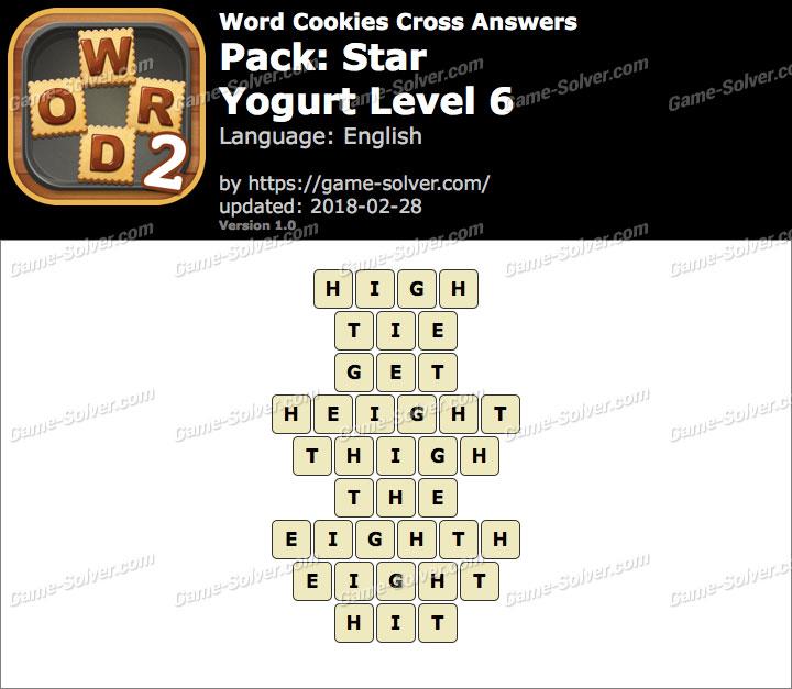 Word Cookies Cross Star-Yogurt Level 6 Answers