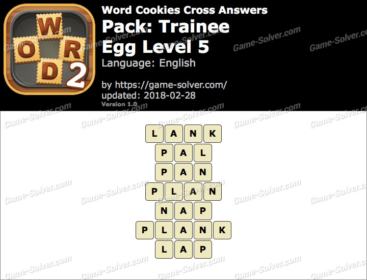 Word Cookies Cross Trainee-Egg Level 5 Answers
