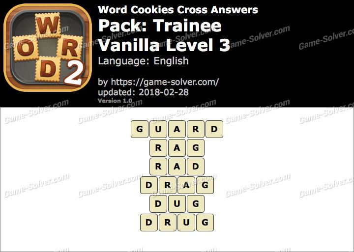 Word Cookies Cross Trainee-Vanilla Level 3 Answers