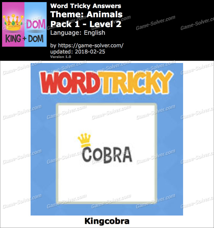 Word Tricky Animals Pack 1-Level 2 Answers