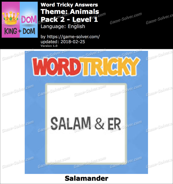 Word Tricky Animals Pack 2-Level 1 Answers