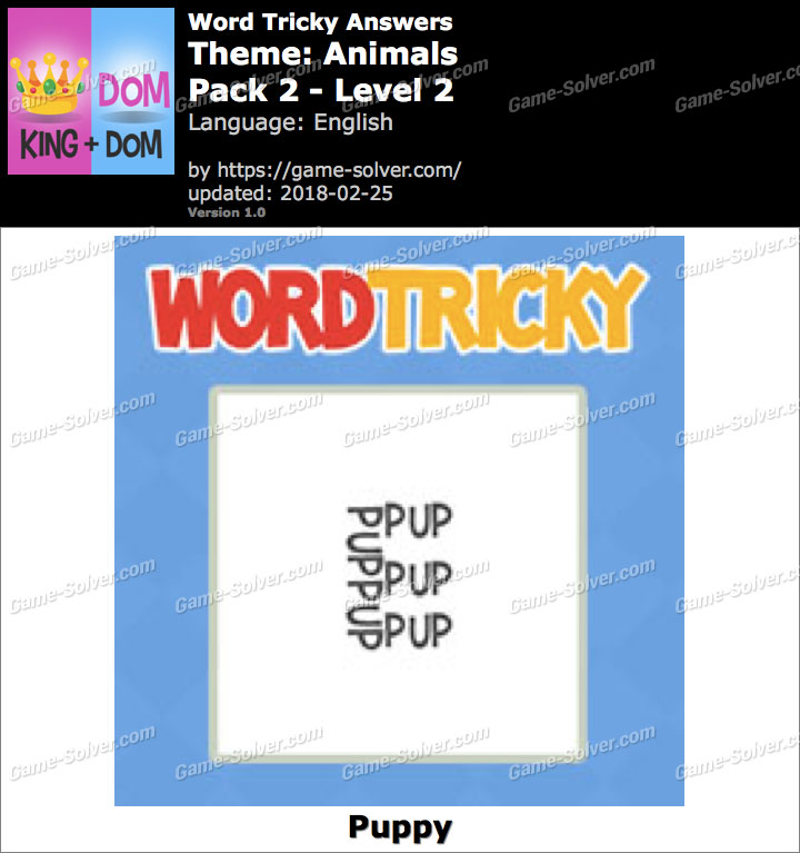 Word Tricky Animals Pack 2-Level 2 Answers
