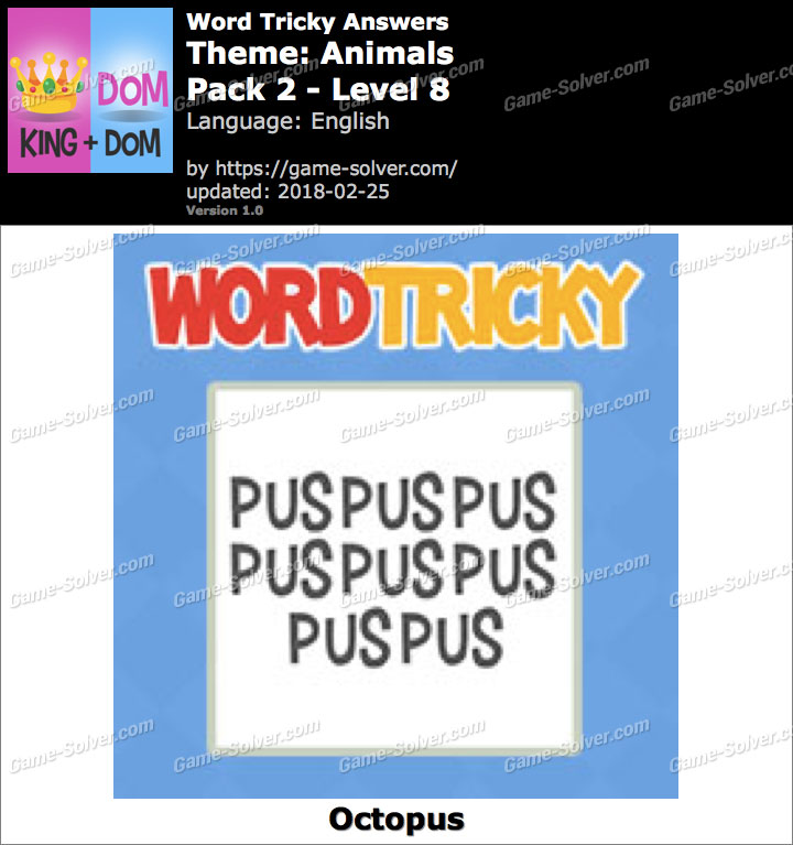 Word Tricky Animals Pack 2-Level 8 Answers