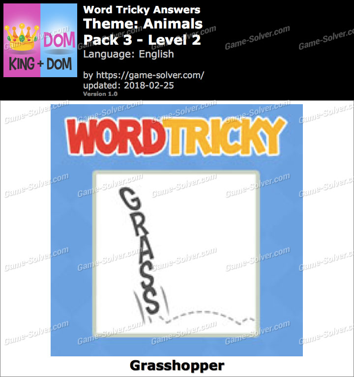 Word Tricky Animals Pack 3-Level 2 Answers