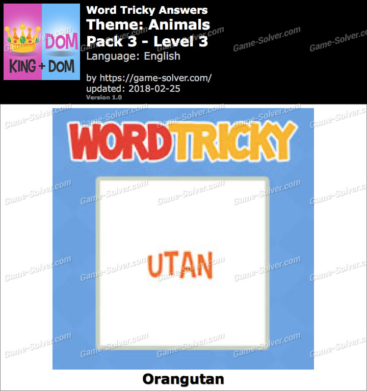 Word Tricky Animals Pack 3-Level 3 Answers