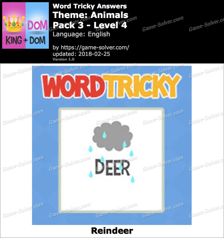 Word Tricky Animals Pack 3-Level 4 Answers