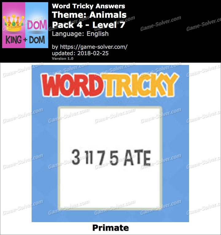 Word Tricky Animals Pack 4-Level 7 Answers