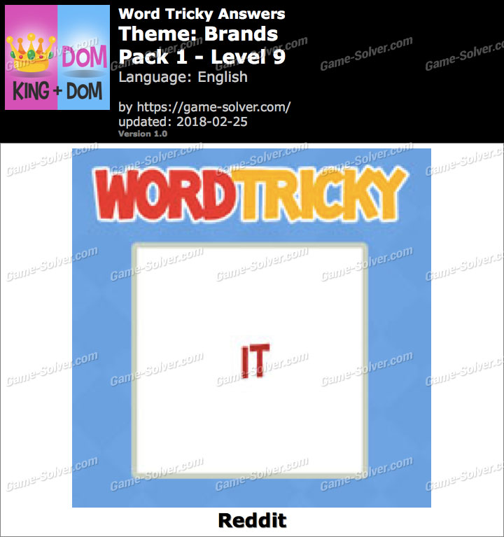 Word Tricky Brands Pack 1-Level 9 Answers