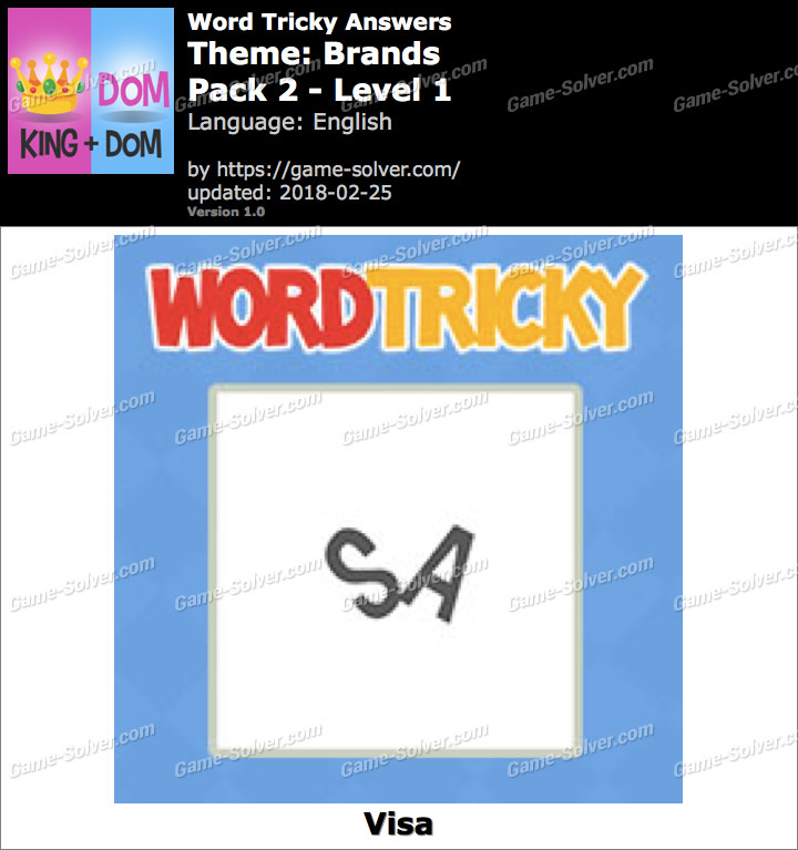 Word Tricky Brands Pack 2-Level 1 Answers