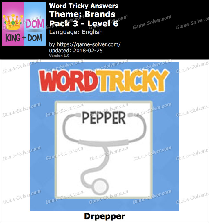 Word Tricky Brands Pack 3-Level 6 Answers