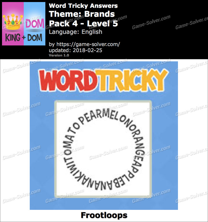 Word Tricky Brands Pack 4-Level 5 Answers
