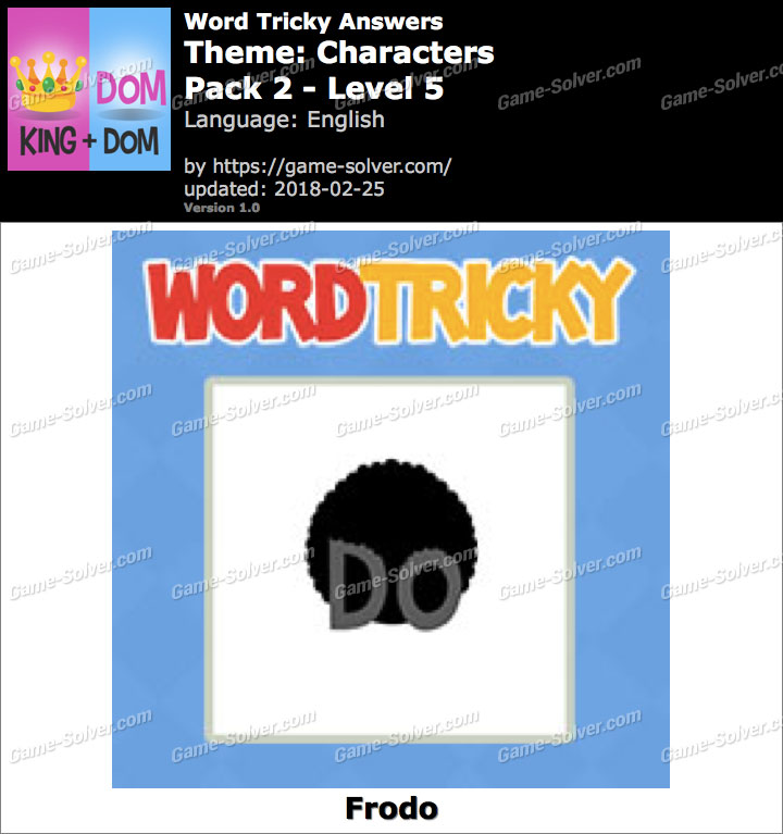 Word Tricky Characters Pack 2-Level 5 Answers