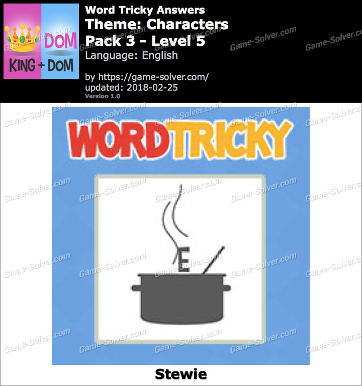 Word Tricky Characters Pack 3-Level 5 Answers