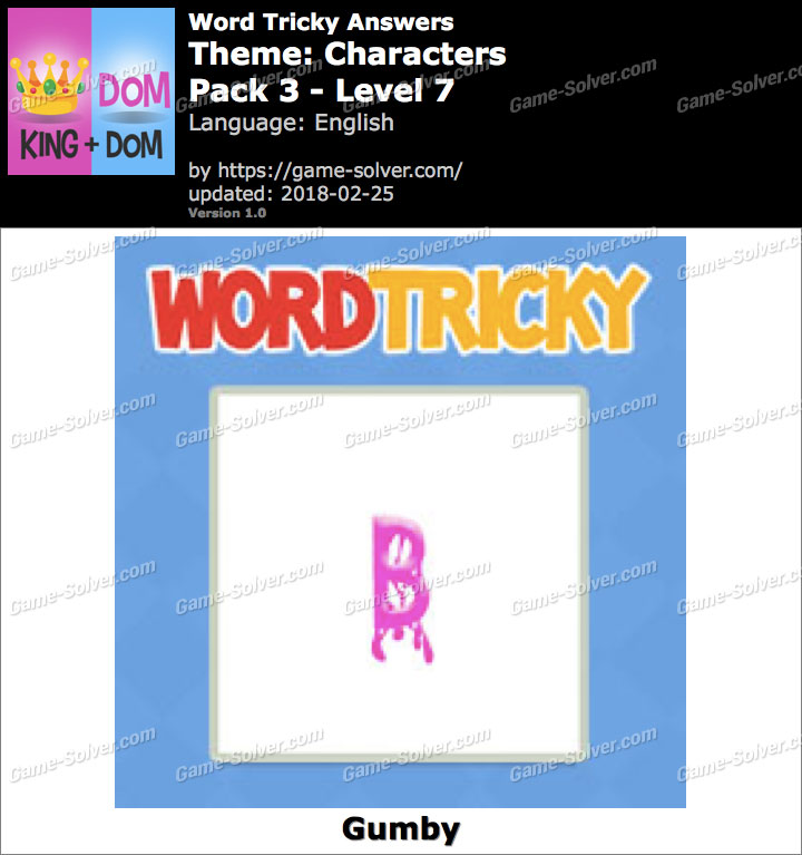 Word Tricky Characters Pack 3-Level 7 Answers