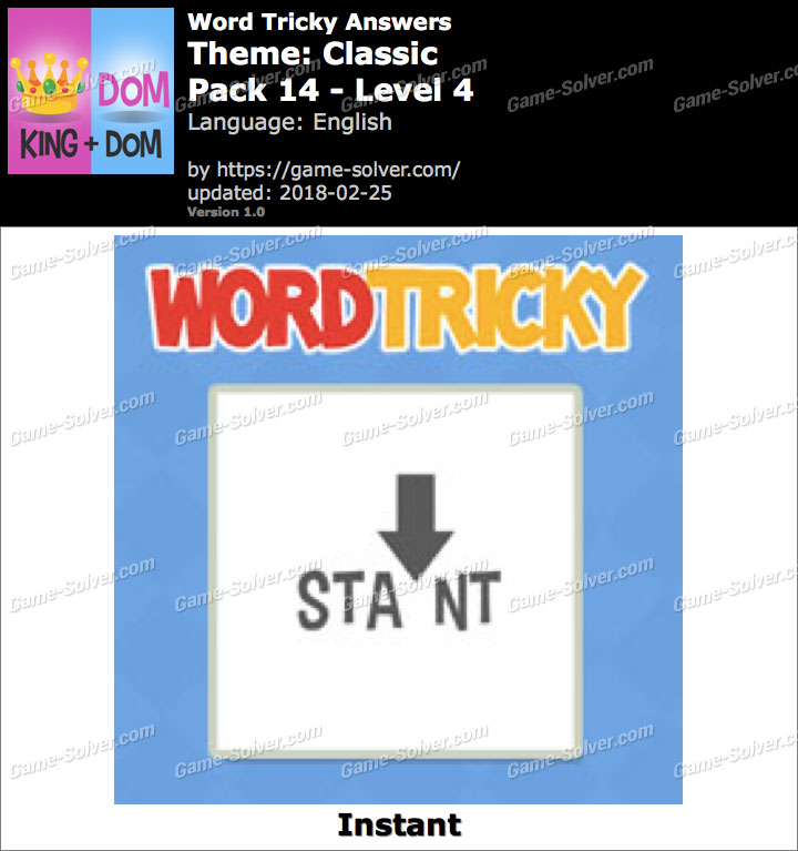 Word Tricky Classic Pack 14-Level 4 Answers