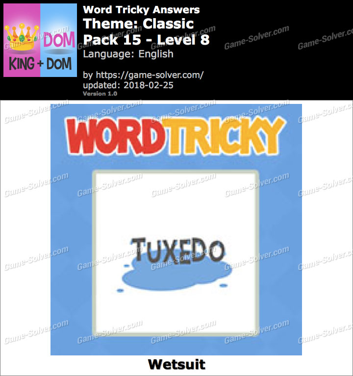 Word Tricky Classic Pack 15-Level 8 Answers