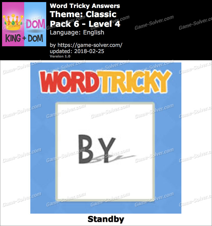 Word Tricky Classic Pack 6-Level 4 Answers