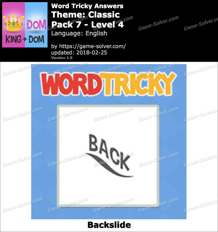 Word Tricky Classic Pack 7-Level 4 Answers