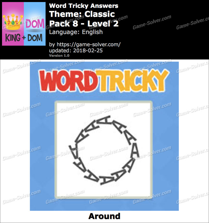 Word Tricky Classic Pack 8-Level 2 Answers