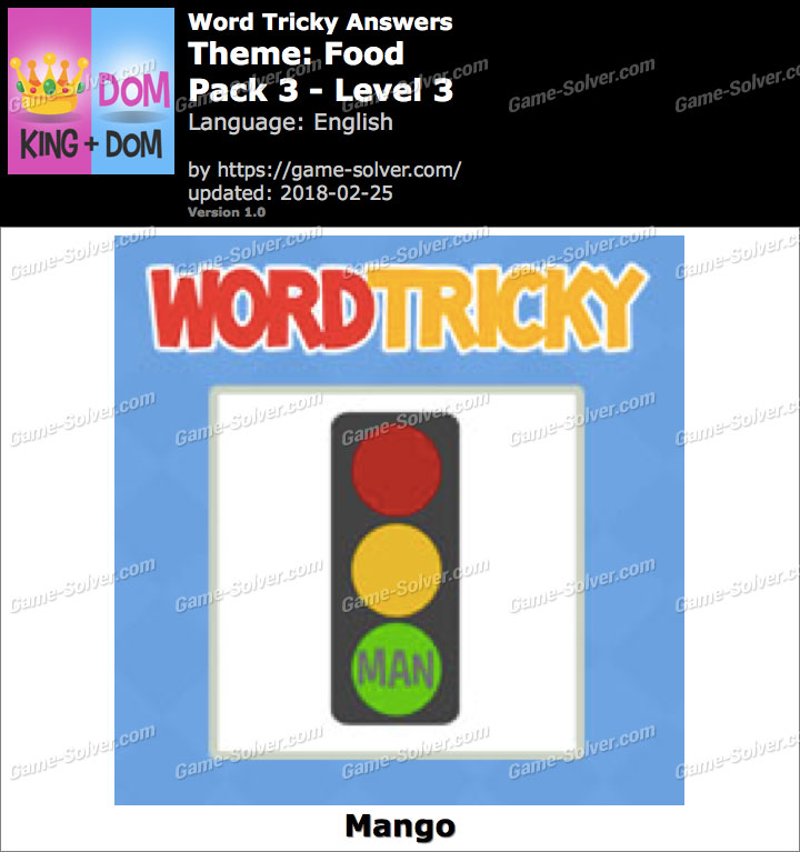 Word Tricky Food Pack 3-Level 3 Answers